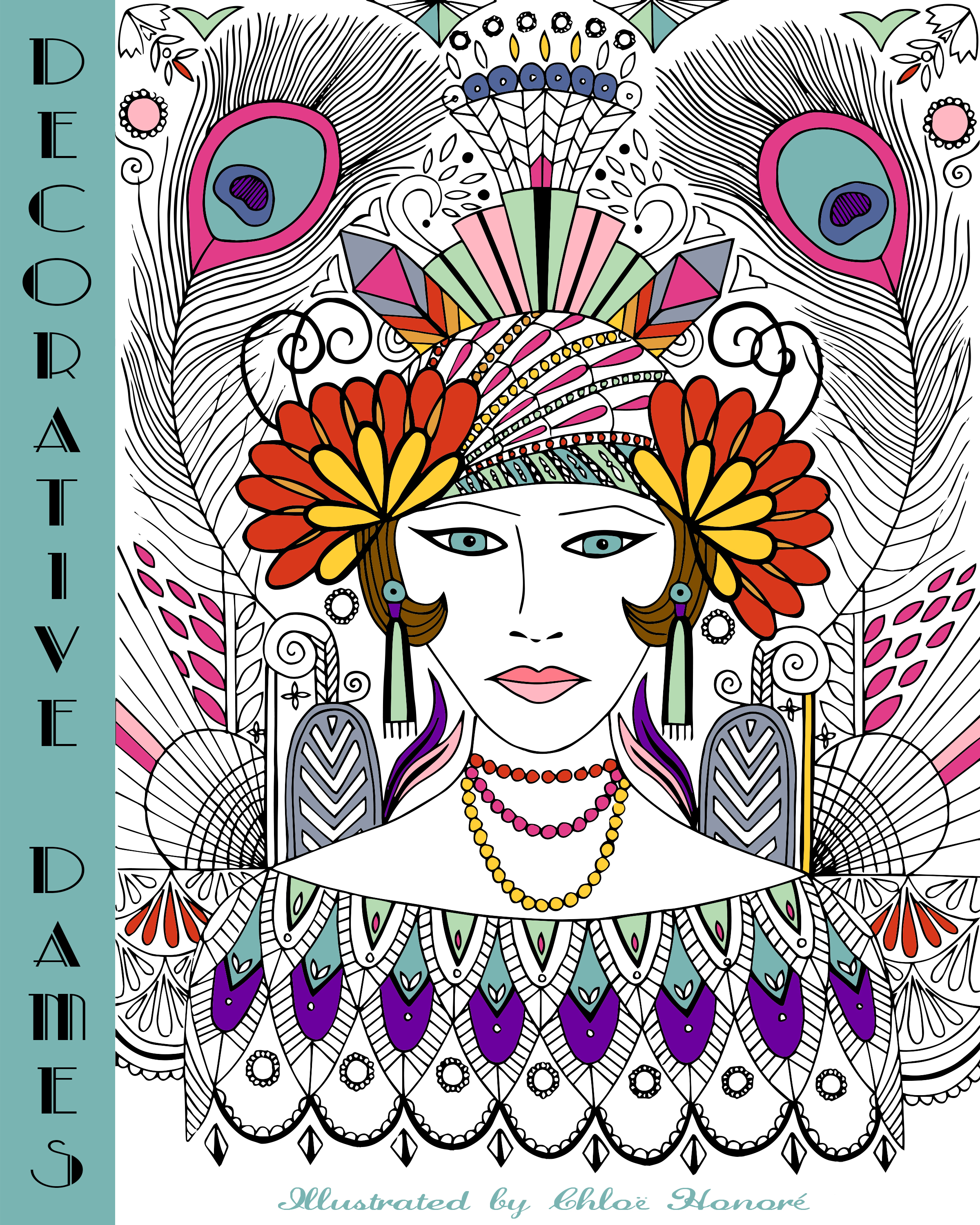 1920s Colouring Book Cover